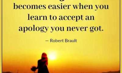 Inspirational Life Quotes When You Learn to Accept an Apology