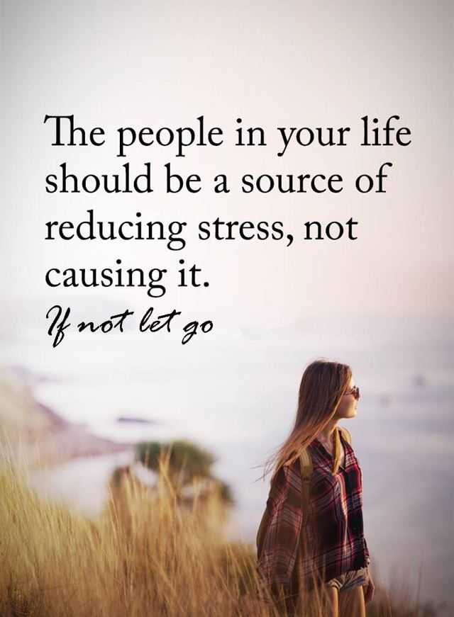 Inspirational Life Quotes The People Reducing Stress Not Causing It