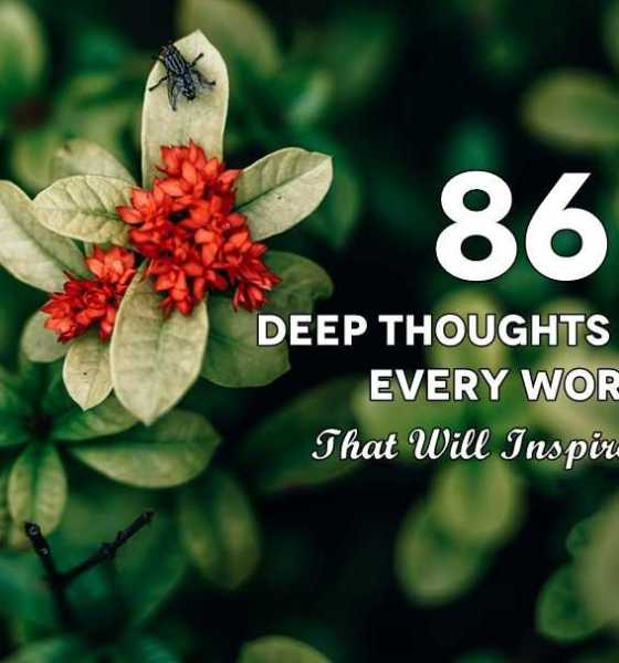 86 Deep Thoughts Quotes Every Words That Will Inspire You