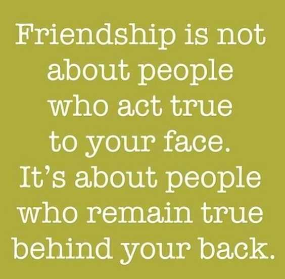 Faced friends about two sayings Two faced