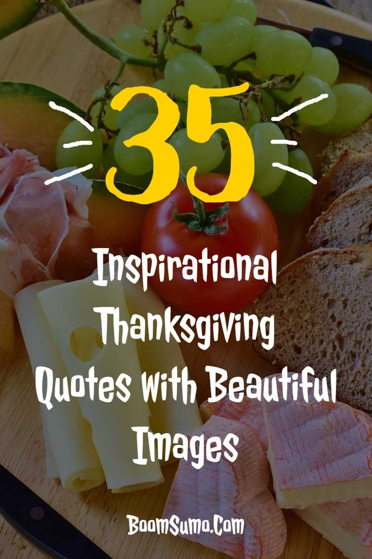 Inspirational Thanksgiving Quotes with Beautiful Images