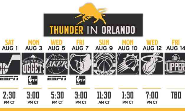 Thunder Re-Start Schedule & TV Guide