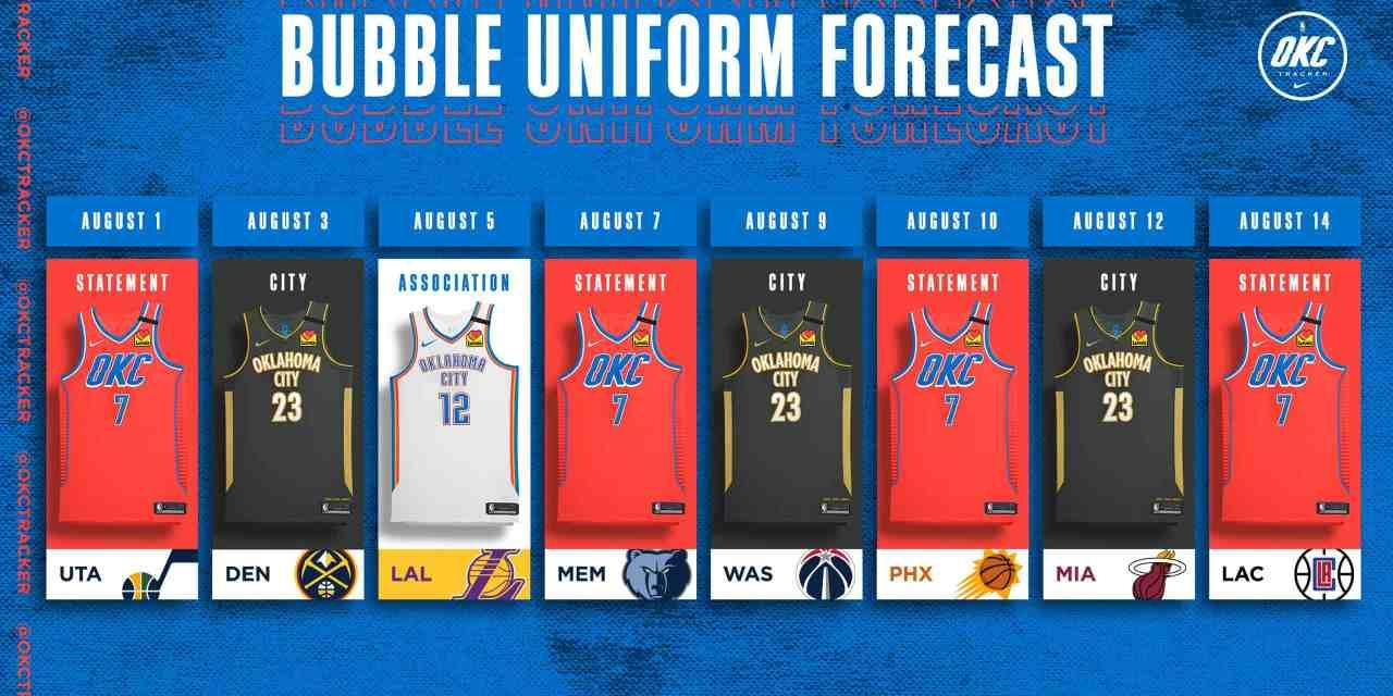 Thunder Release Orlando Uniform Schedule