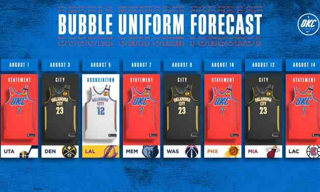 Thunder Release Orlando Uniform Schedule
