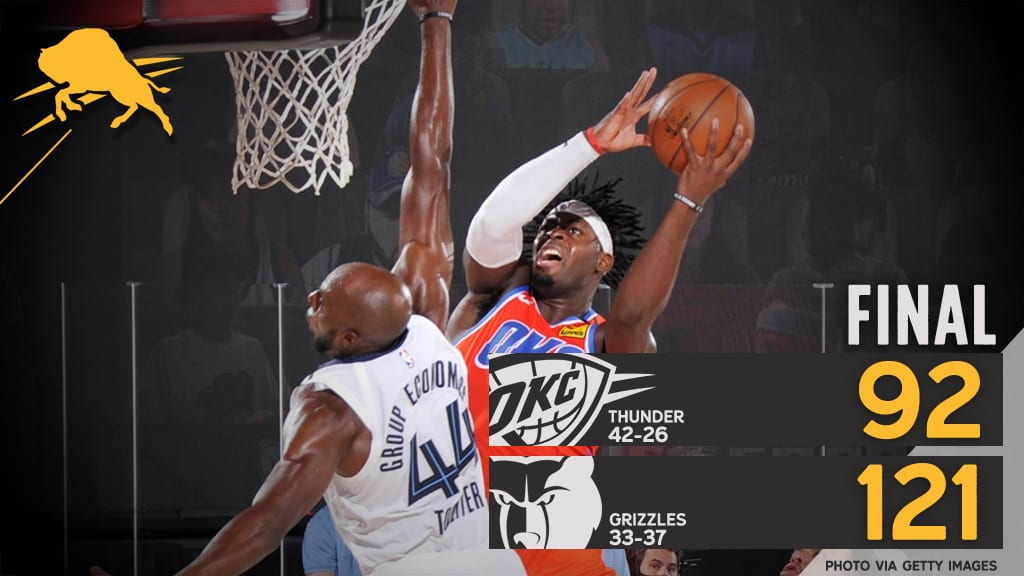 Boomtown Live: Grizzlies 121, Thunder 92