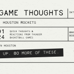Thunder lose in Houston (124-91), 0-2 to Start the Season
