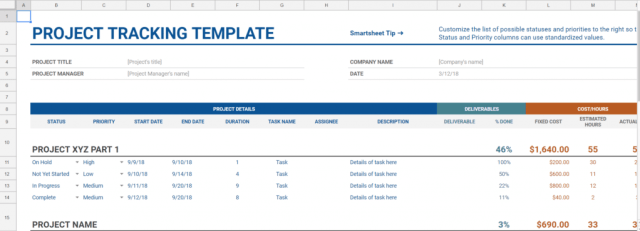 Real Estate Project Tracking
