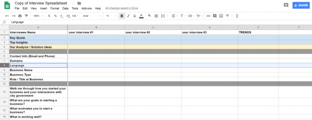 Real Estate Interview Tracking Template