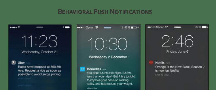 user behavior based push