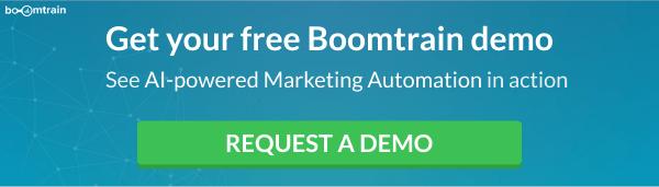 Boomtrain Request a Demo CTA