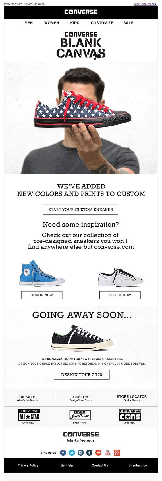 converse product emails