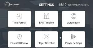player settings - Boom TV