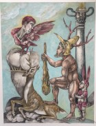 Herakles& Telephos,2015, watercolor/graphite on papper, 9 by12""