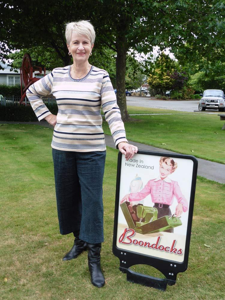 Margaret Prattley - Owner of Boondocks Clothing Ltd, Ashburton, NZ