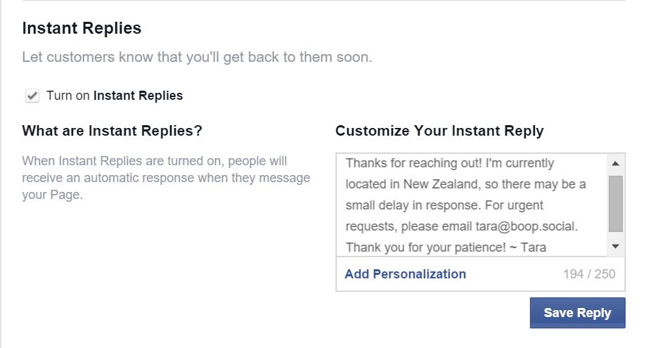 Quick Tip Instant Replies Boop SocialBoop Social