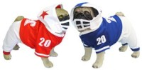 Red and White Football Dog Costumes : Blue and White ...