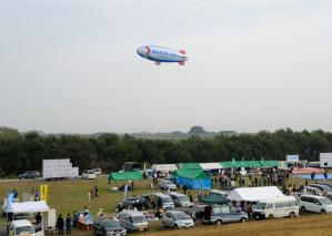 Over the festival site