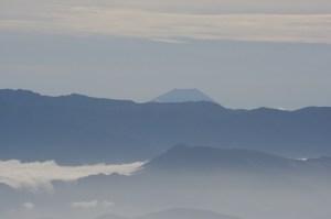 南アルプス越しの富士山