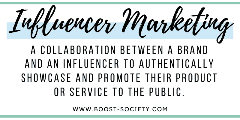The definition of influencer marketing