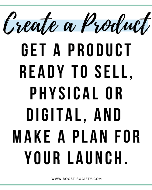 Create a product to sell