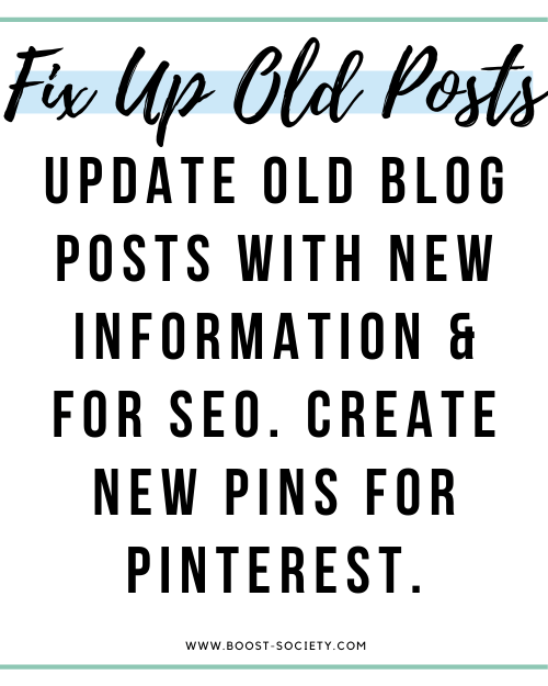 Update old blog posts