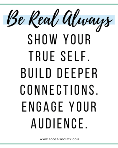 Be real with your audience at all times as an influencer