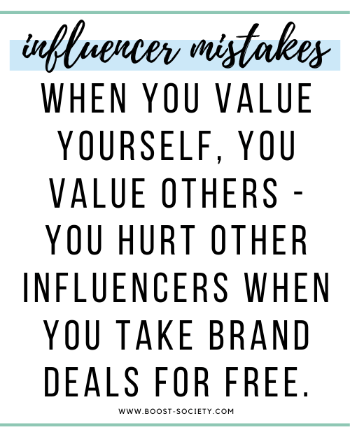 Stop undercutting others by taking brand collaborations for cheap or free
