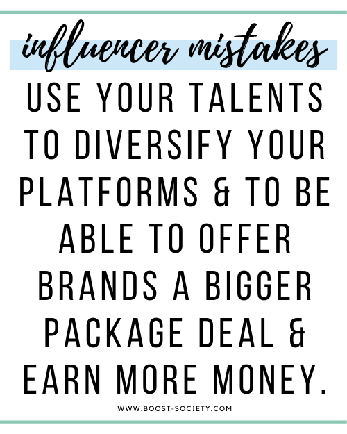 Diversify your platforms to earn more in brand collaborations as an influencer