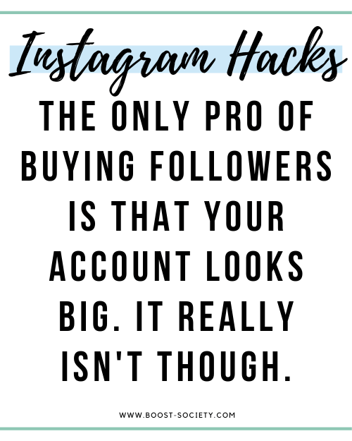 The only pro of buying followers is that your account looks big. It really isn't though.