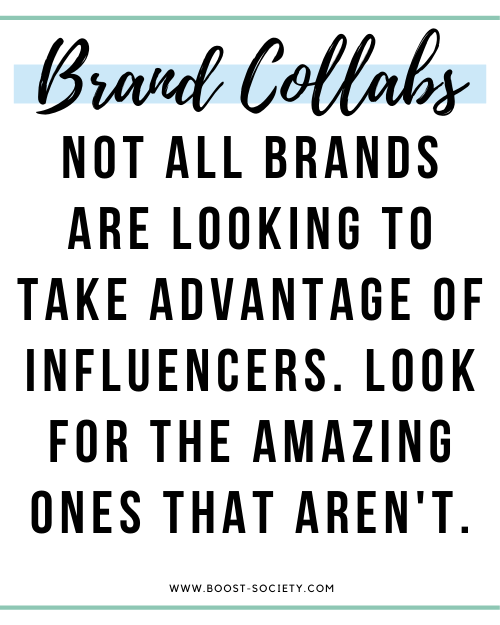 Not all brands are looking to take advantage of influencers. Look for the amazing brands that aren't.
