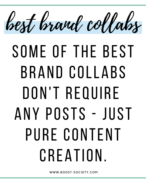 Some of the best brand collaborations don't require any posts - just pure content creation.