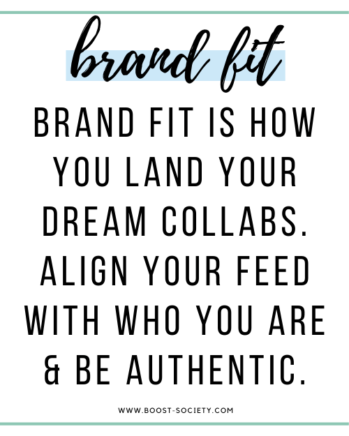 Brand fit is how you land your dream brand collabs. Align your feed with who you are and be authentic.