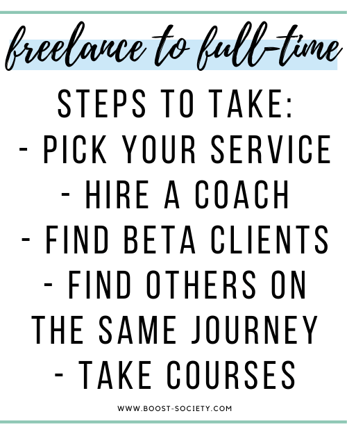 Steps to take when going from freelance to full-time