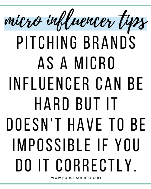 Pitching brands as a micro influencer can be hard but it doesn't have to be impossible if you do it correctly.