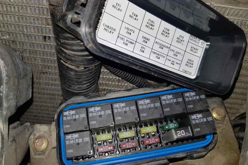 medium resolution of front fuse panel on a polaris sportsman xp 1000