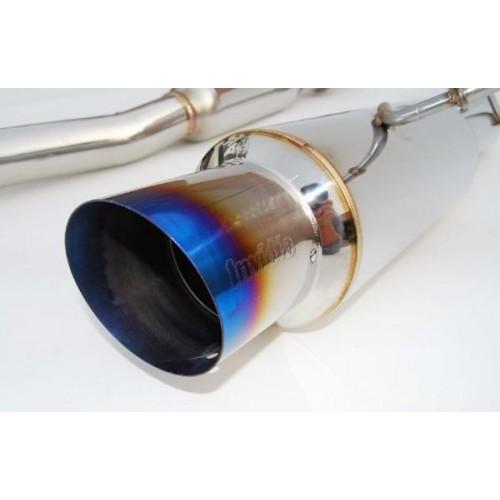 invidia n1 catback exhaust system w titanium tip 2002 2007 wrx sti