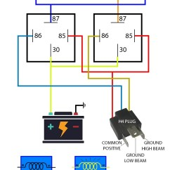 Headlight Motor Wiring Miata Jeep Wrangler Stereo Diagram Mx5 Nb Facelift Part 2 High Low Beam Boosted Media 01 99 H4 How To Indicator Nb1 Nb2 Nb8a Nb8b Relay Swap