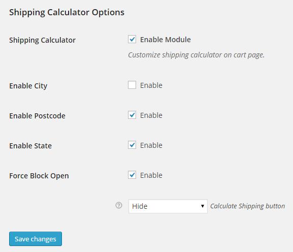 WooCommerce Shipping Calculator Customizer