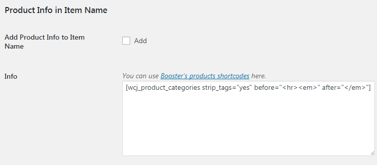WooCommerce Email Options - Admin Settings - Product Info in Item Name