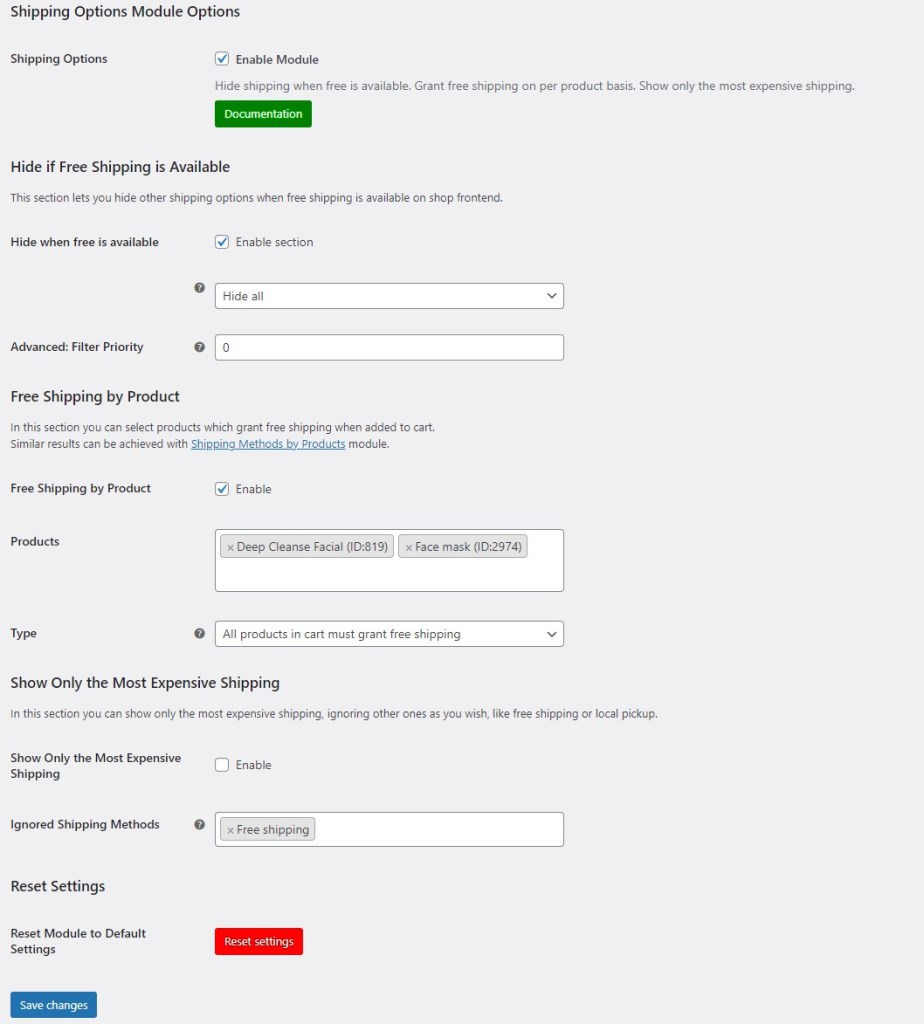 Configure module settings