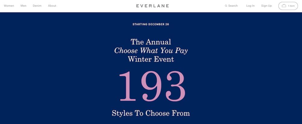 Everlane pay what you want