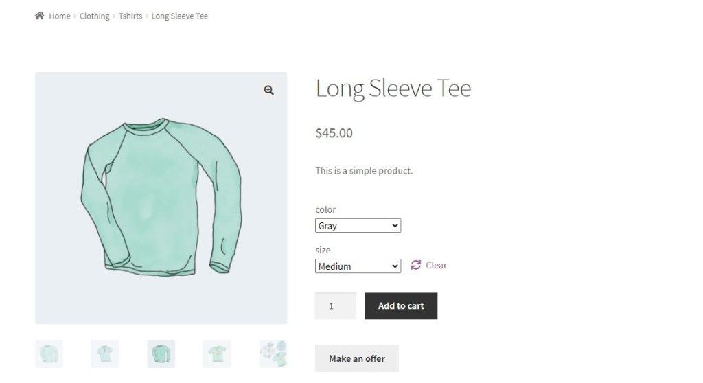 Product page preview