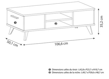 meuble tv contemporain decor chene