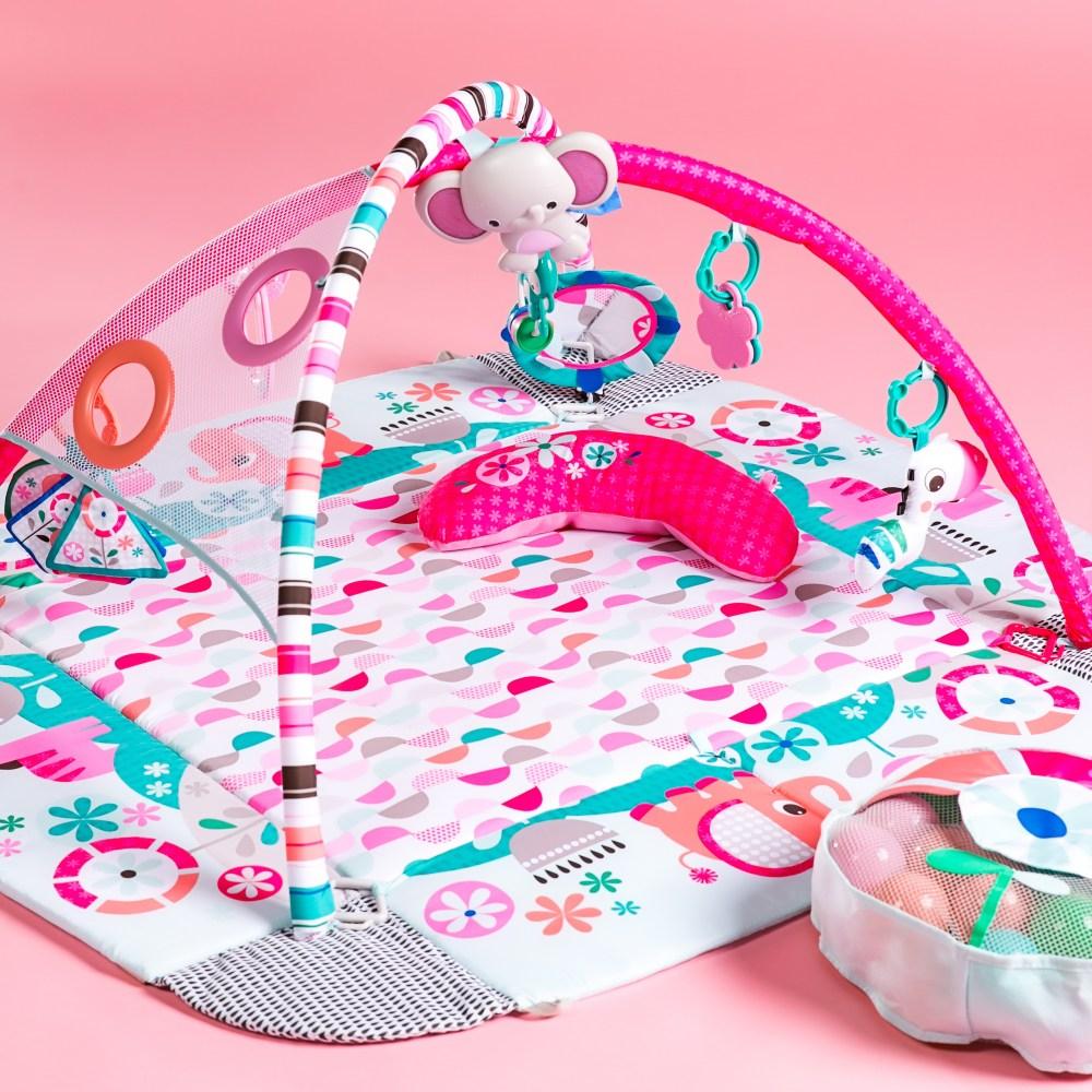 bright starts tapis d eveil evolutif your way ball play rose avec sons et lumieres