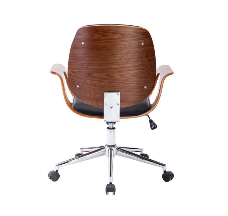 wood chaise de bureau avec accoudoirs