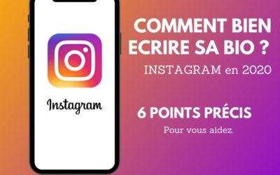 Que mettre dans sa bio instagram ?