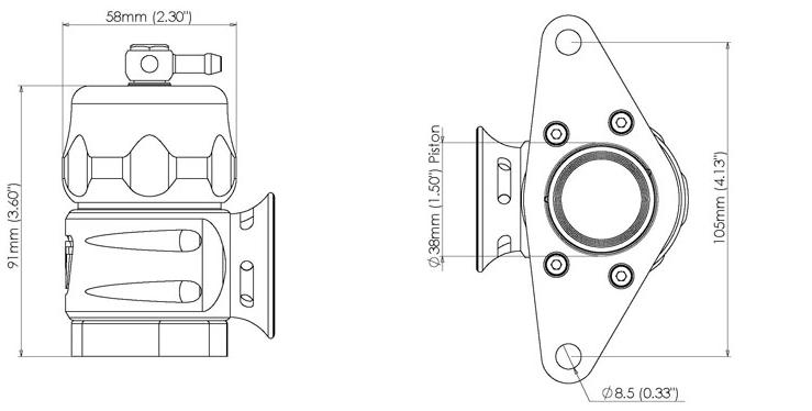 Turbosmart Supersonic Blue * TS-0205-1315 * for Subaru 01