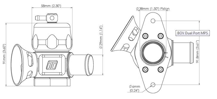 Turbosmart Dual Port * TS-0205-1009 * for 09-14 WRX / 06