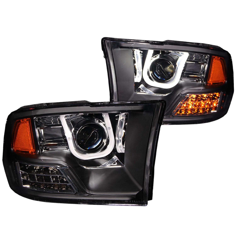 hight resolution of anzo projector headlights u bar black for 09 17 dodge ram 1500anzo headlight wiring diagram