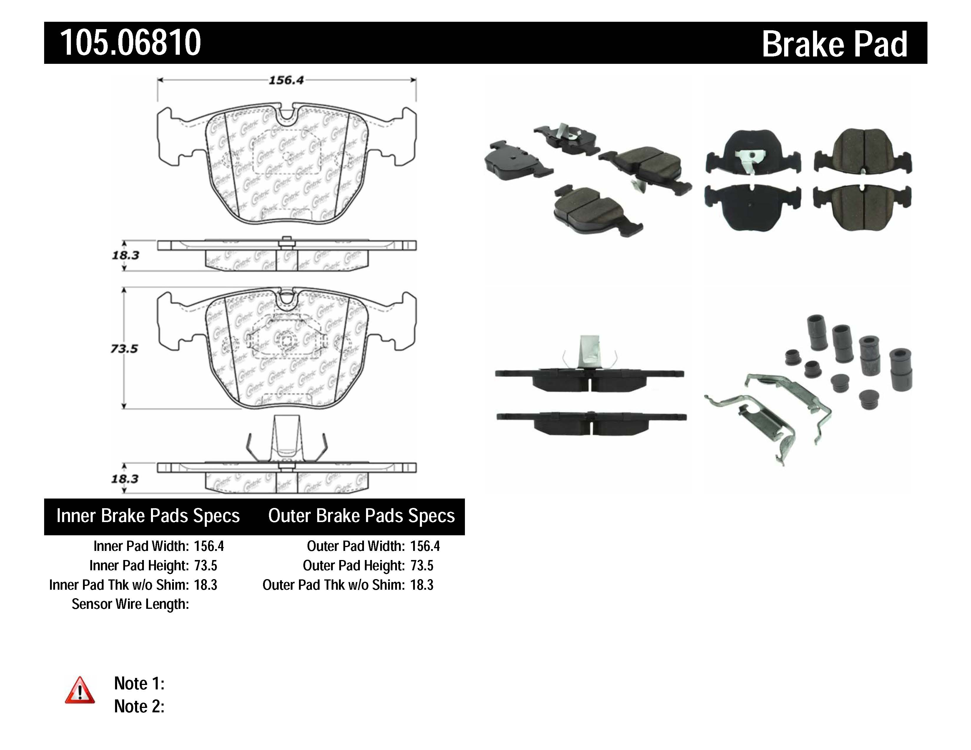 Stoptech Disc Brake Pad For 95 06 Bmw 740i 740il 540i